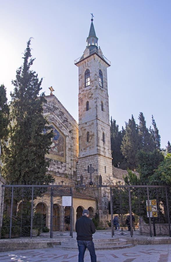 Umgängekyrka i Ein Kerem nära Jerusalem royaltyfria bilder