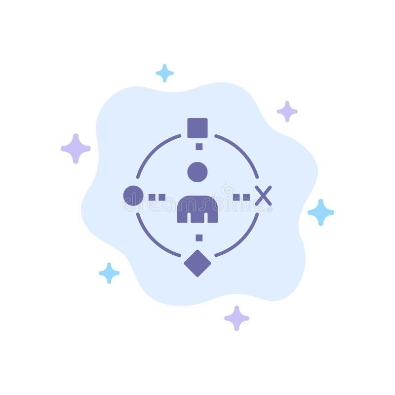 Umgebend, Benutzer, Technologie, Erfahrungs-blaue Ikone auf abstraktem Wolken-Hintergrund stock abbildung
