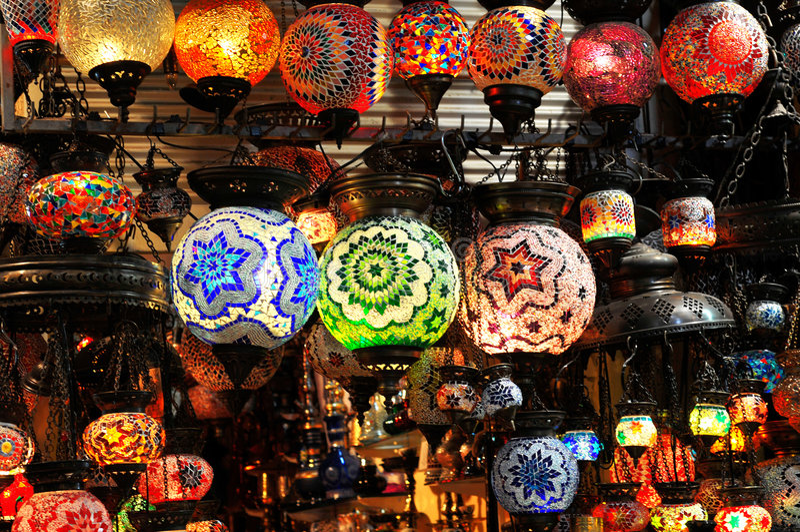 Umgebende Beleuchtung von Asien stockfotos