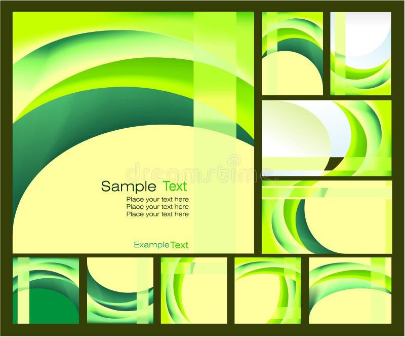 Umgebungs-grüne Hintergründe stock abbildung
