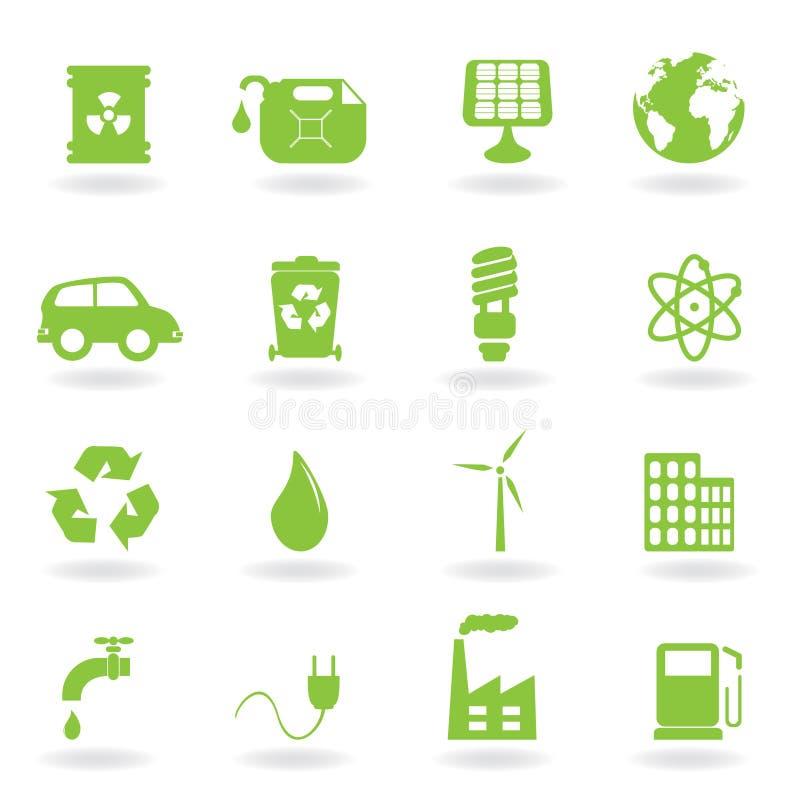 Umgebungs- und ecosymbole stock abbildung
