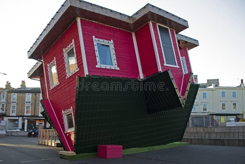 Umgedrehtes Haus Bournemouth Dorset stockfoto