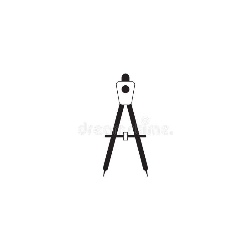 Umgehen Sie Werkzeugikonenvektor, festes Logo des Teilers, das lokalisierte Piktogramm stock abbildung