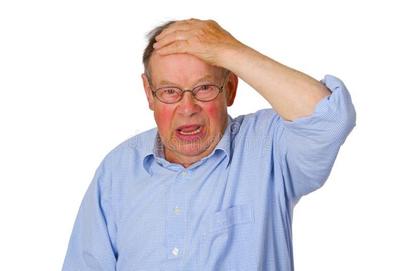 Umgekippter männlicher Älterer lizenzfreie stockfotos