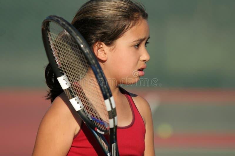 Umgekippter Tennisspieler stockbilder