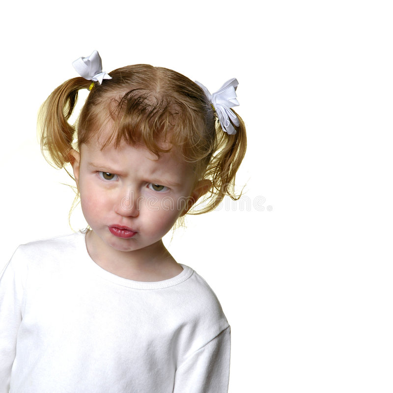 Umgekipptes kleines Mädchen stockfoto