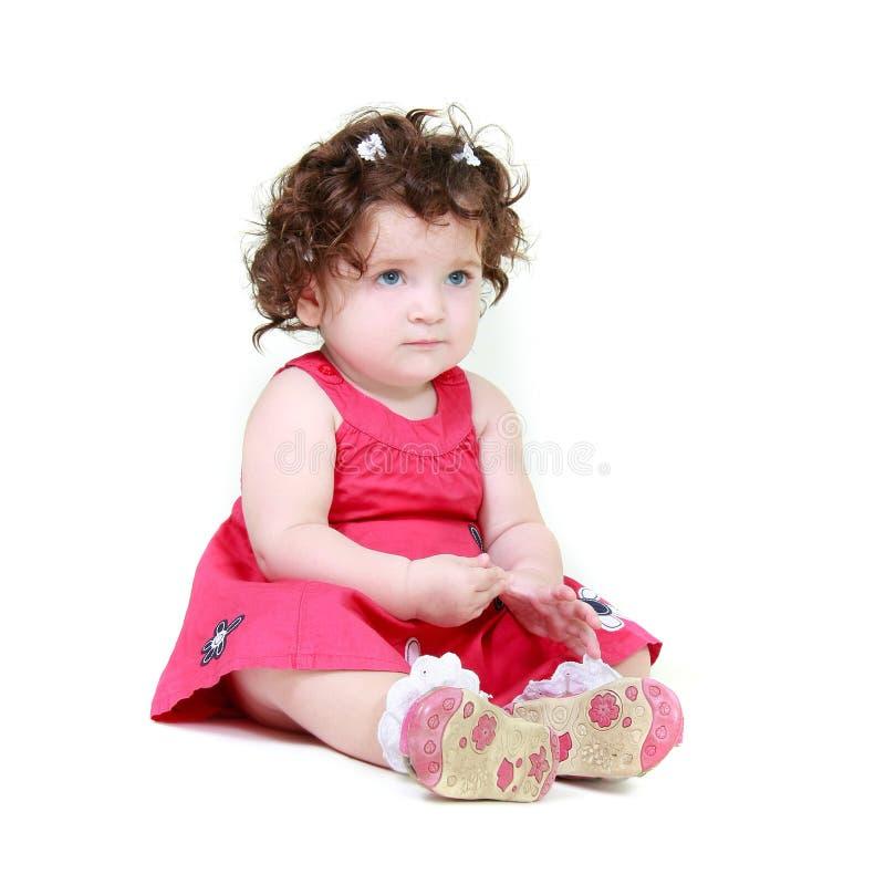 Umgekipptes Kleinkindmädchen stockbilder