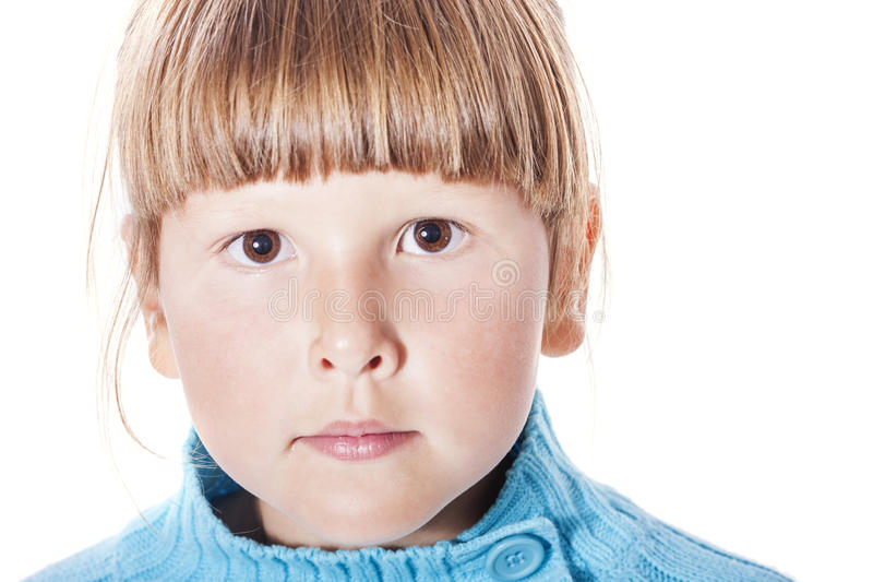 Umgekipptes verschrobes Mädchen lizenzfreies stockbild