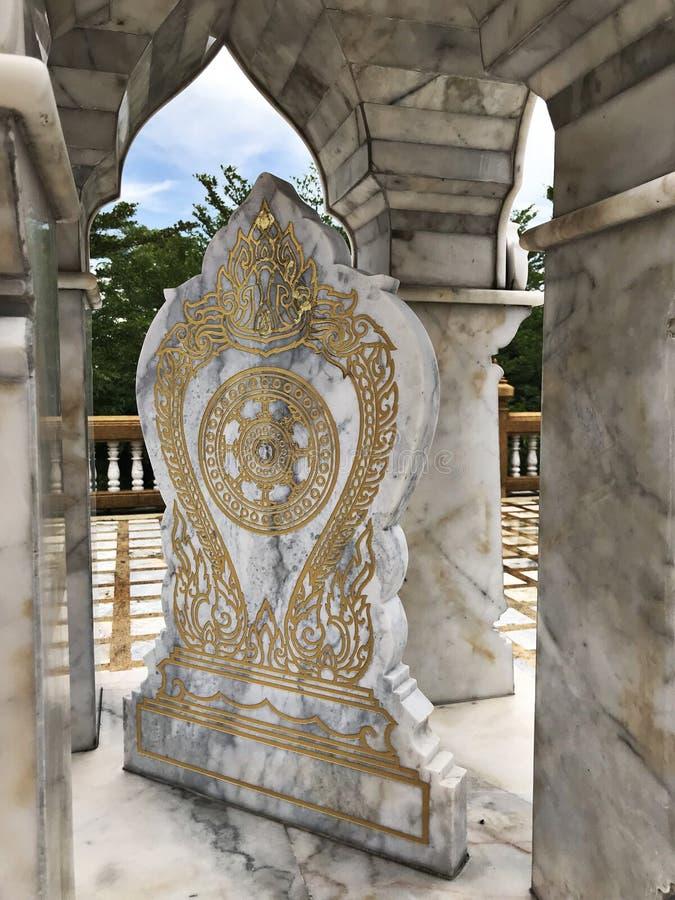 Umgrenzungsmarker eines Tempels stockbilder