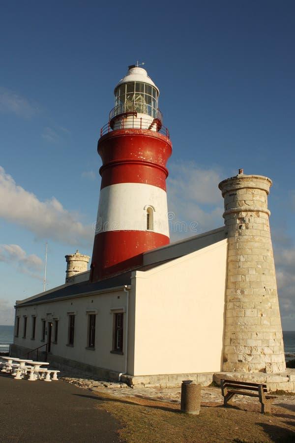 Umhang Agulhas Leuchtturm, Südafrika lizenzfreie stockfotografie