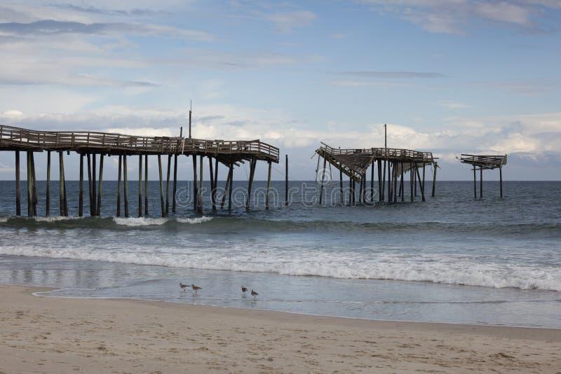 Umhang Hatteras Pier lizenzfreies stockbild
