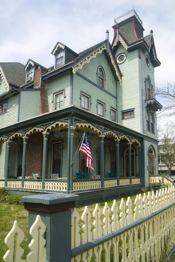 Umhang mag viktorianische Architektur lizenzfreies stockbild