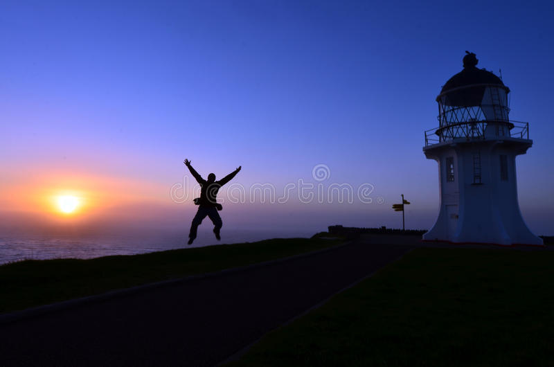 Umhang Reinga Leuchtturm stockbilder