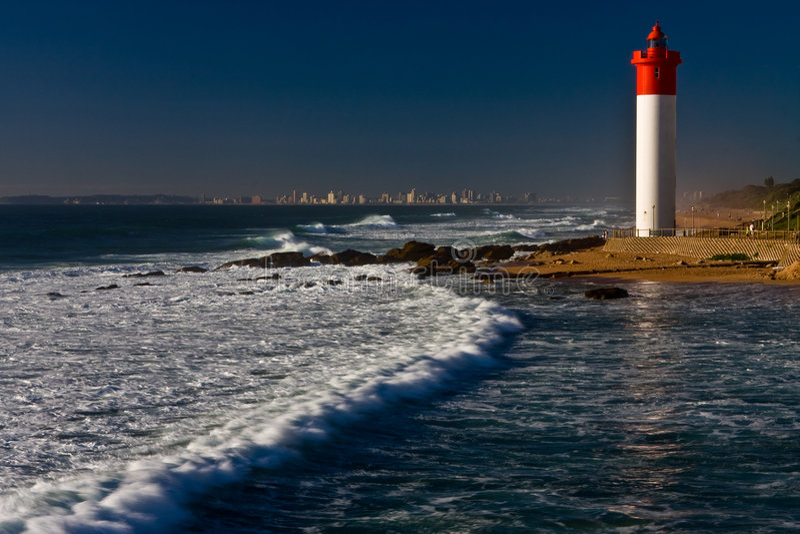 umhlanga latarni morskiej. zdjęcia stock
