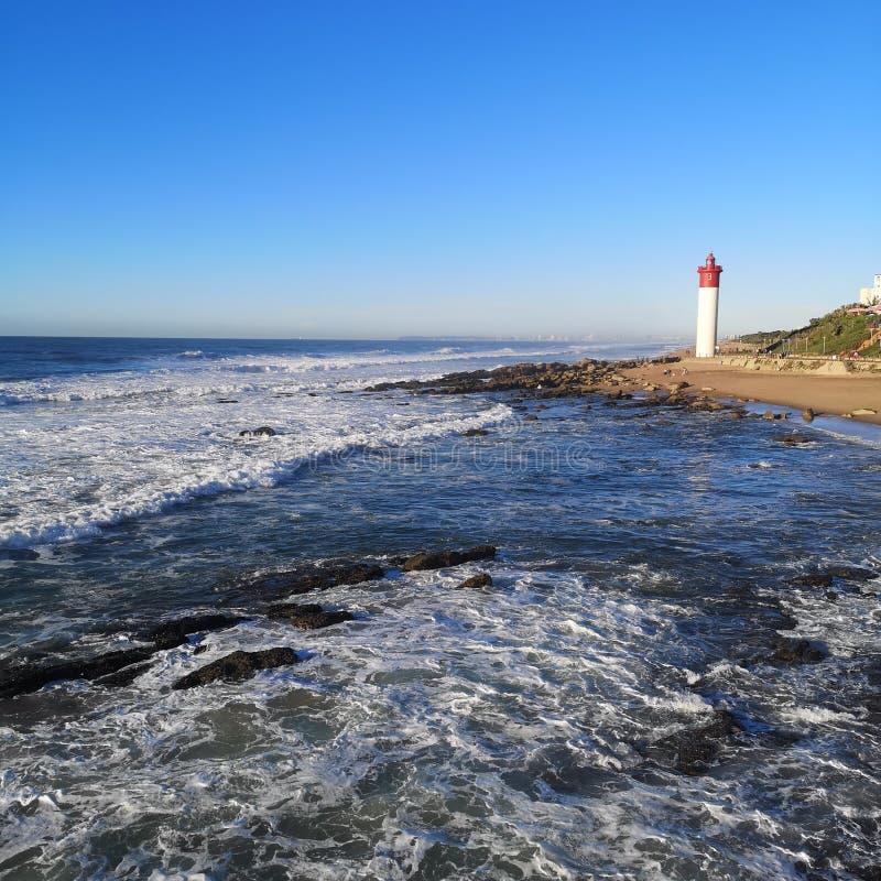 Umhlanga lighthouse stock image