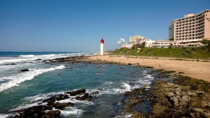 Umhlanga Lighthouse on a Perfect Day stock photography