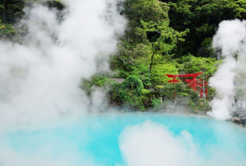 Umi-jigoku (a K A Inferno do mar), Beppu, Kyushu, Japão foto de stock