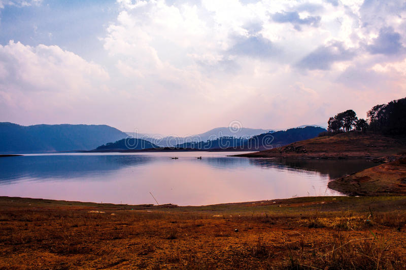 Umiam Lake It is a man-made lake is located in the hills 15 k royalty free stock photo