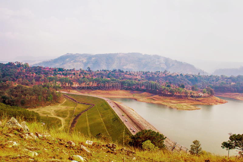 Umiam Lake It is a man-made lake is located in the hills 15 k royalty free stock photos
