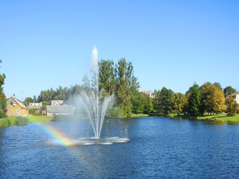 Umidità della città di Raseiniai, Lituania fotografia stock libera da diritti