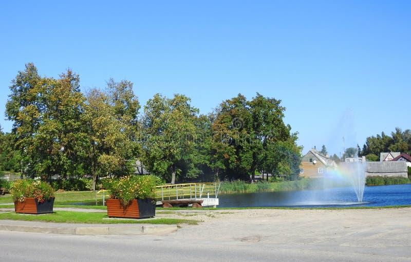 Umidità della città di Raseiniai, Lituania immagini stock