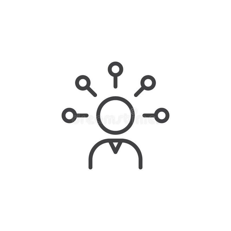 Umiejętność konturu ikona ilustracji
