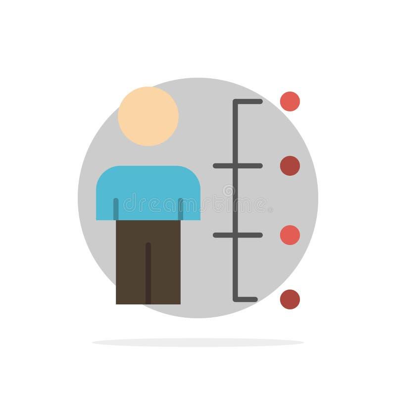 Umiejętności, zdolność, pracownik, istota ludzka, mężczyzna, ludzie Abstrakcjonistycznego okręgu tła koloru Płaskiej ikony ilustracji