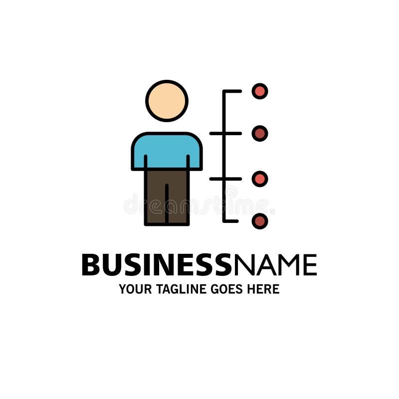 Umiejętności, zdolność, pracownik, istota ludzka, mężczyzna, ludzie Biznesowego logo szablonu p?aski kolor royalty ilustracja