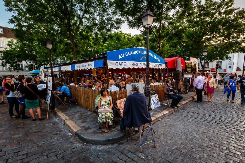 Umieszcza Du Tertre w Montmartre, Paryż, Francja obrazy royalty free