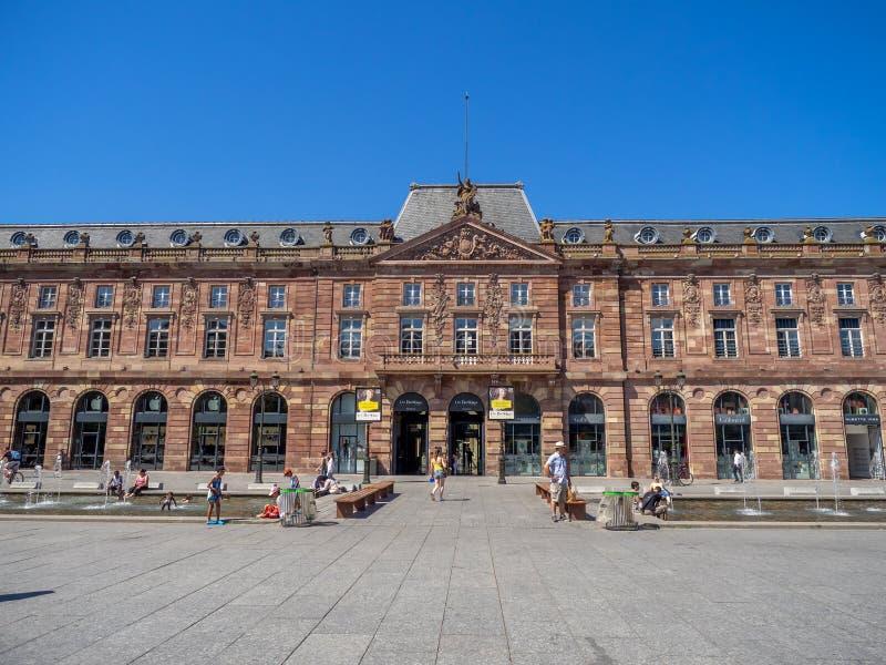 Umieszcza Kleber w centre stary Strasburg zdjęcia royalty free