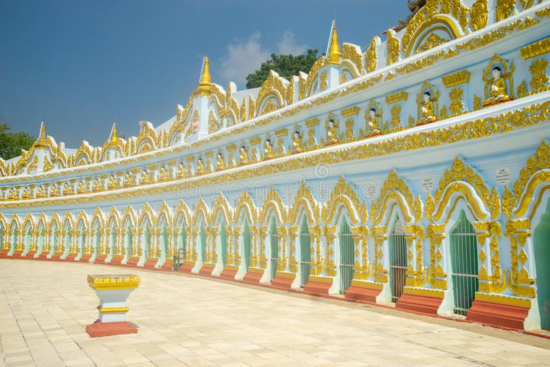 Umin Thonze Pagoda in Sagaing, Myanmar stock images