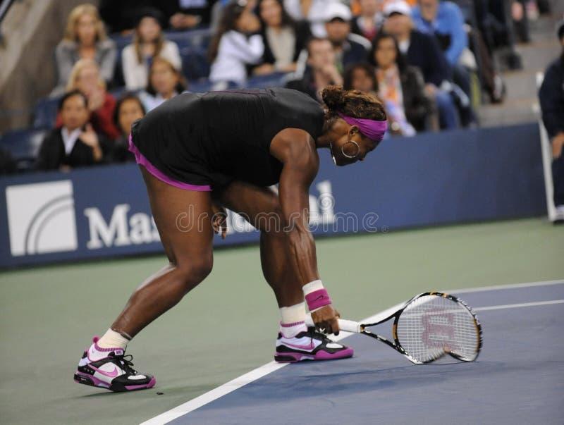 Umkippen Williams-Serena in US öffnet 2009 lizenzfreie stockbilder