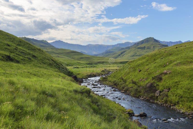 Umkomaas River at Lotheni. Drakensberg South Africa royalty free stock photography