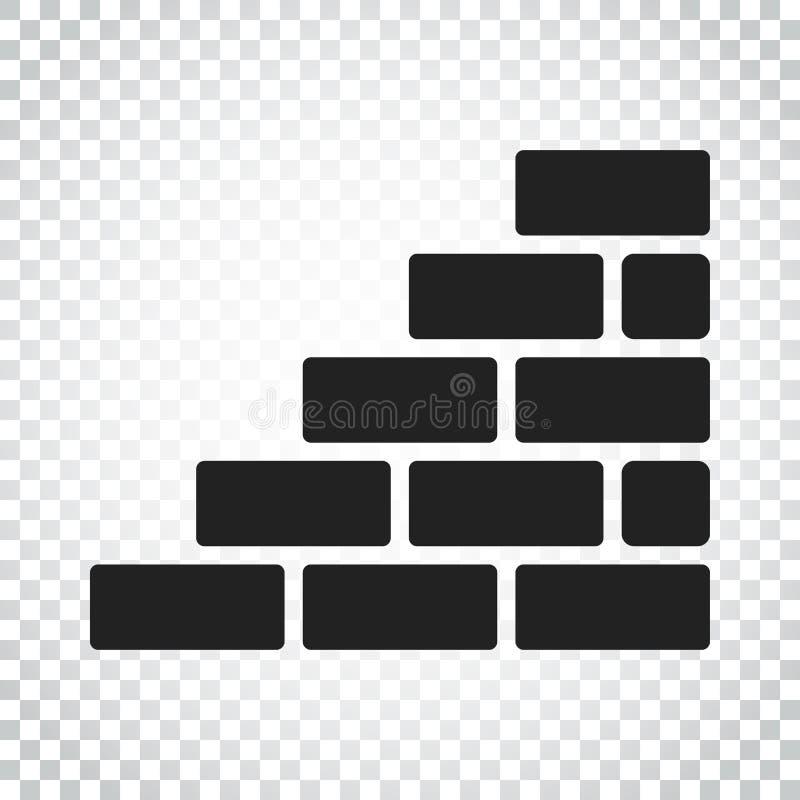 Download Ummauern Sie Ziegelsteinikone In Der Flachen Art Auf Lokalisiertem Hintergrund Wand Symbo Vektor Abbildung - Illustration von symbol, stein: 96935858
