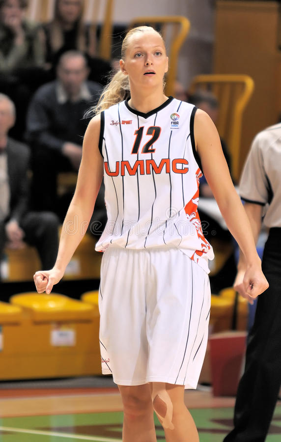 UMMC vs TEO. Women basketball Euroleague 2009-2010. YEKATERINBURG, RUSSIA - OCT 28. Agnieszka Bibrzycka (UMMC). Women basketball Euroleague 2009. UMMC ( stock photography