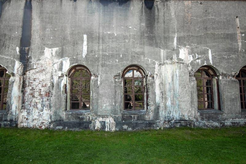Umocnienia kropek z betonu z II wojny światowej Wojna, armia, obrona obraz royalty free