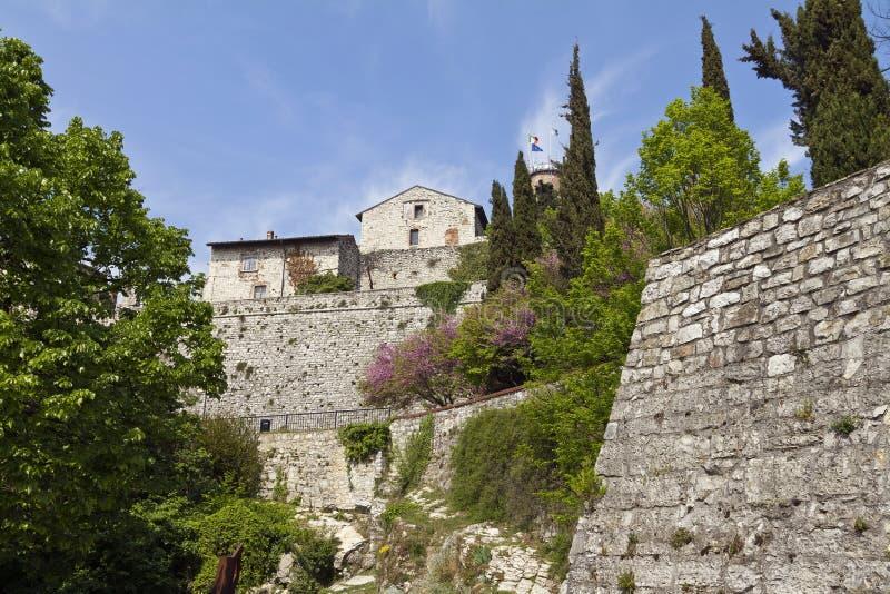 Umocniony kompleks zamku w Brescii zdjęcie stock