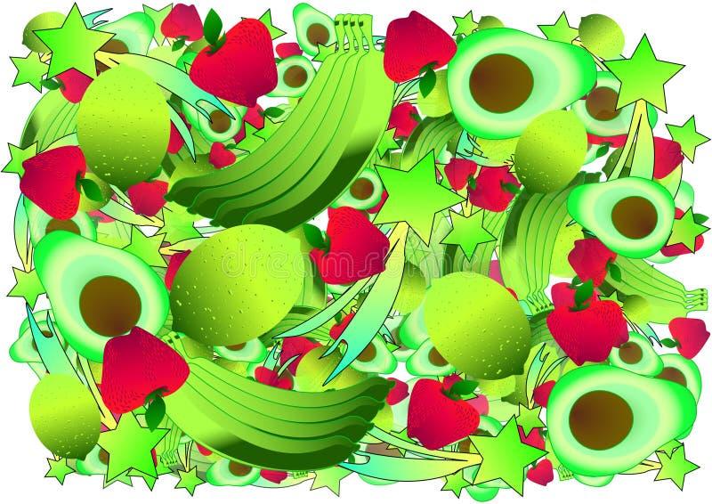Umore fruttato Frutta luminosa fotografia stock libera da diritti