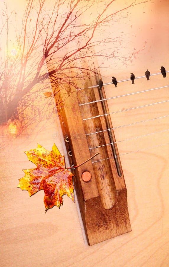 Umore musicale arancio di autunno immagine stock