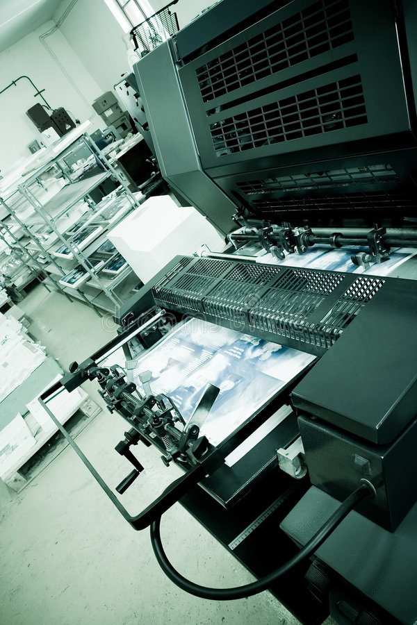 umowy kompensacyjne odcisku maszyny fotografia stock