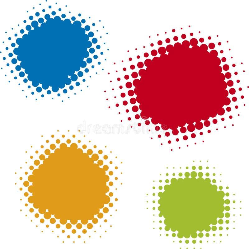 umowy kompensacyjne w kropki wektora ilustracja wektor