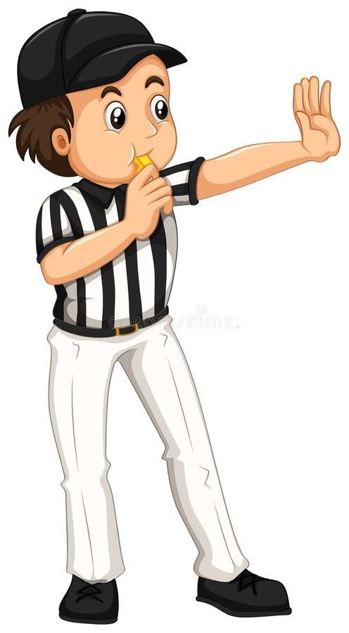 umpire in striped uniform blowing whistle stock vector rh dreamstime com baseball umpire clipart free cricket umpire clipart