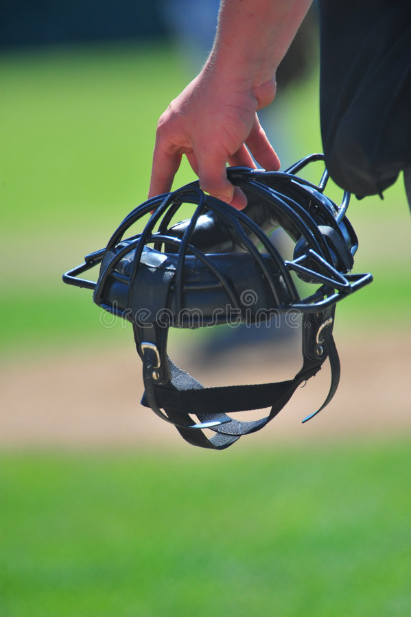 Download Umpires Mask stock photo. Image of junior, athletic, officials - 5433864