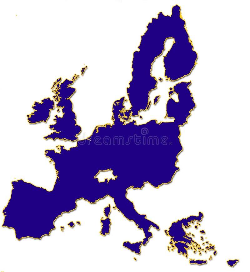 Umreiß EU-2004 stock abbildung