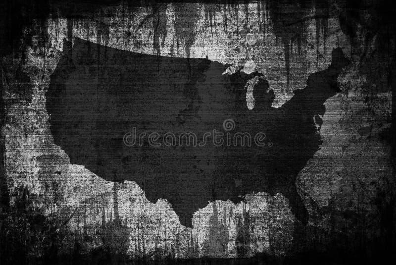 Schmutz-Amerikanerkarte stock abbildung
