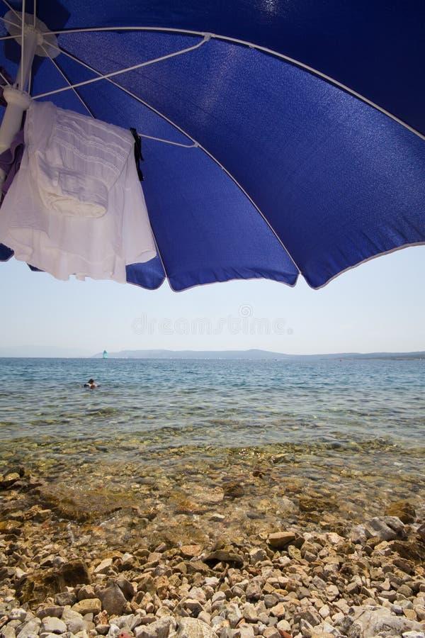 Umrella van het strand stock foto's