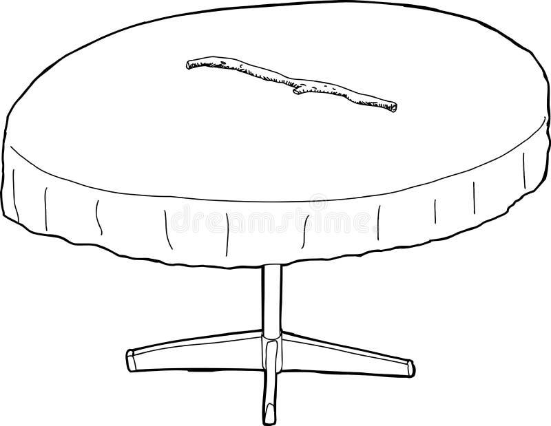 Umrissene Tabelle mit Stock auf die Oberseite stock abbildung