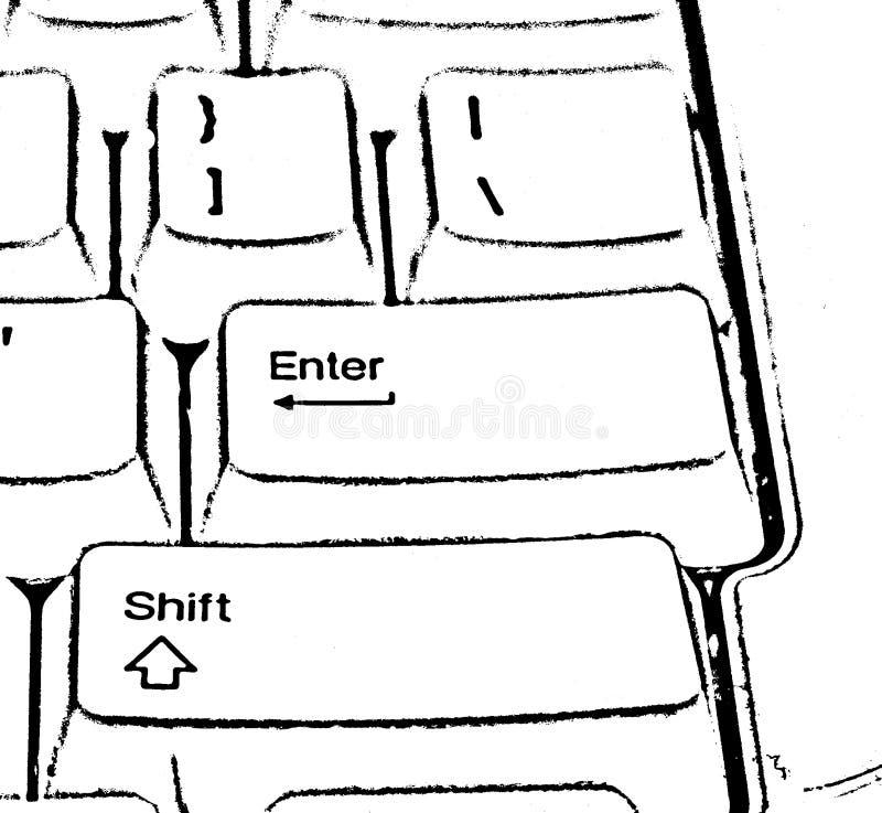 Umrissene Tastatur lizenzfreie stockbilder