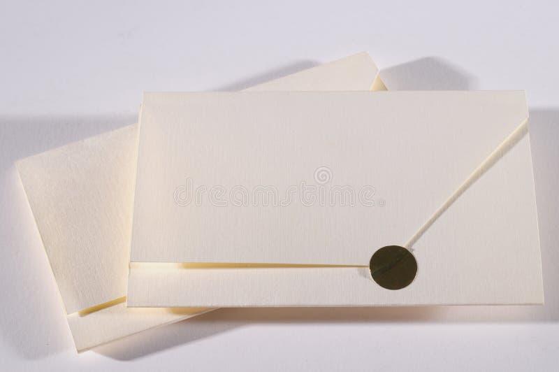 Umschlag. stockbilder