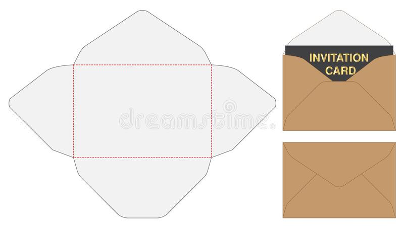 Umschlag gestempelschnittener Spott herauf Schablone Vektorillustration vektor abbildung